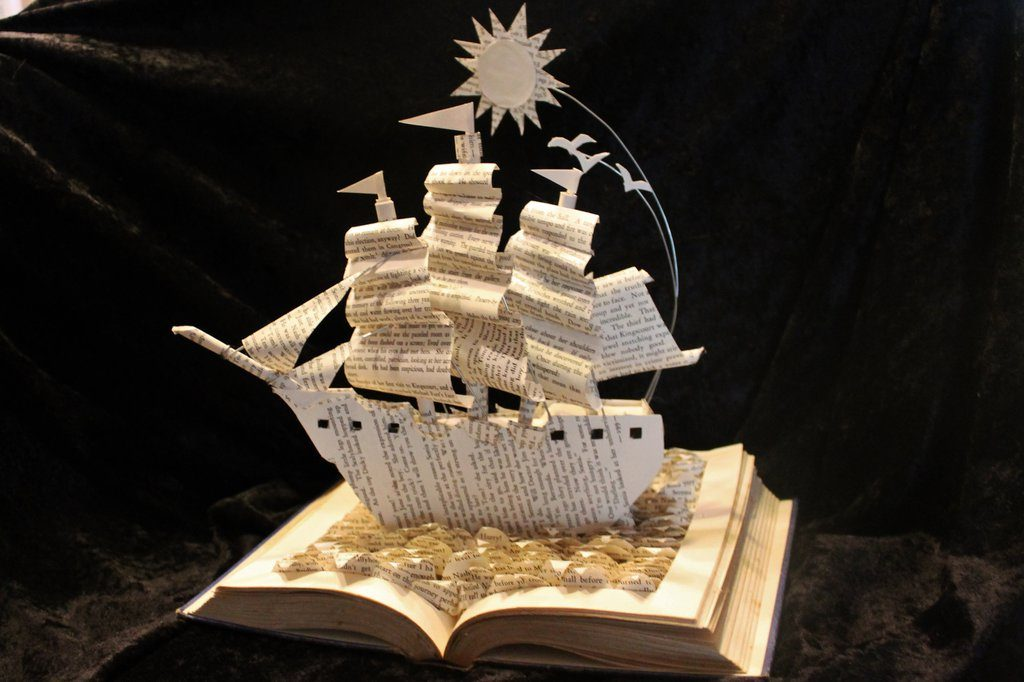 sailing_home_book_sculpture_by_wetcanvas-d6s607s